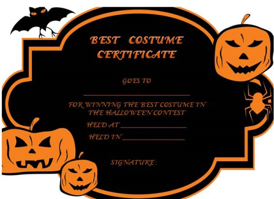 Halloween costume certificates acurnamedia halloween costume certificates yadclub Gallery