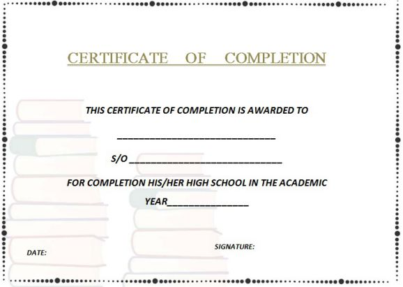 high_school_certificate_of_completion_example