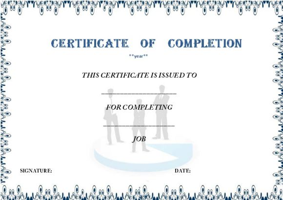 Certificate of completion template 55 word templates for Practical completion certificate template jct
