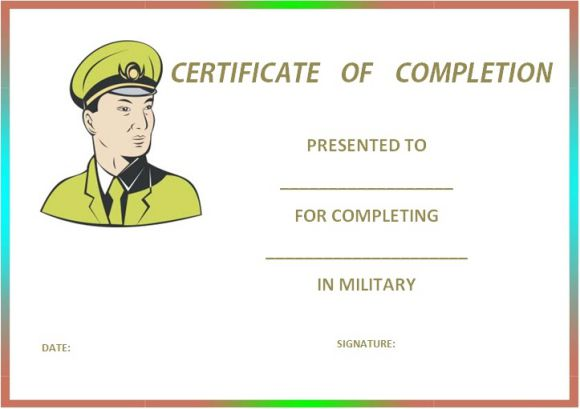 military_certificate_of_completion_template