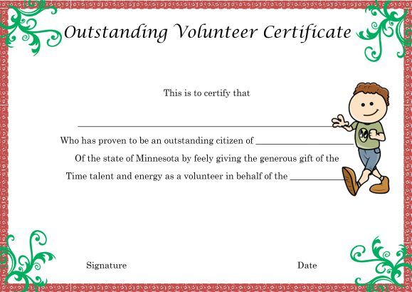Download Volunteer Certificates The Right Way 19 Free Word