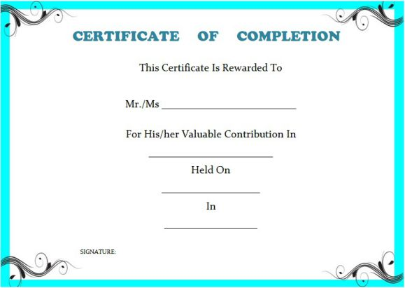 project_completion_certificate_template