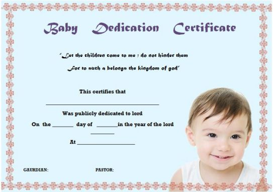 seventh day adventist child dedication certificate