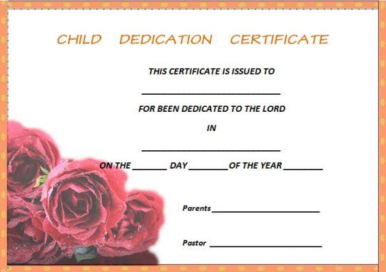 seventh day adventist child dedication certificate 1