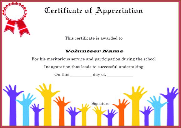 Know About Volunteer Certificate Wording