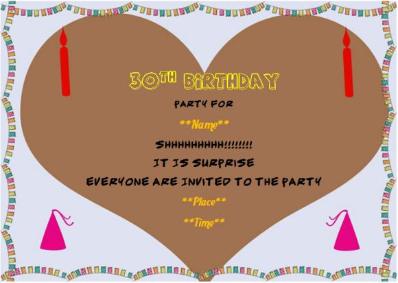 30th Surprise Birthday Party Invitation Template