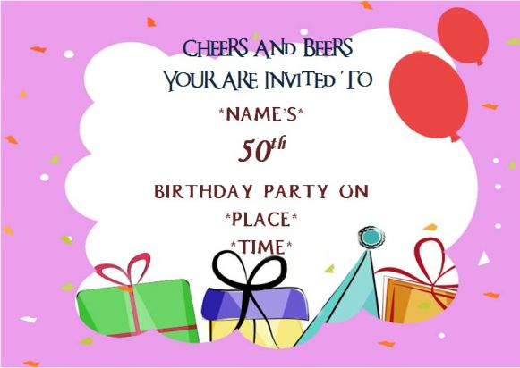 Surprise 50th birthday party invitation free