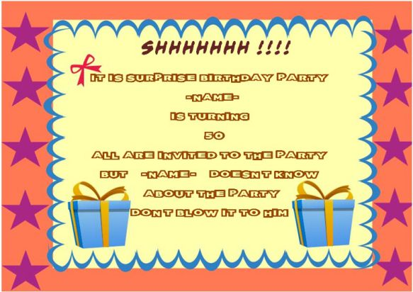 Surprise 50th birthday party invitation template