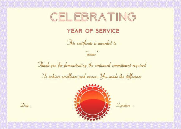 Employee Anniversary Certificate Template 12