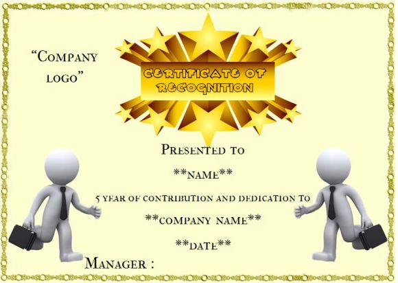 Employee anniversary certificate template 12 professional word 5 year employee anniversary certificate yadclub Gallery