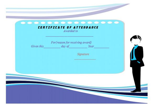 conference attendance certificate template