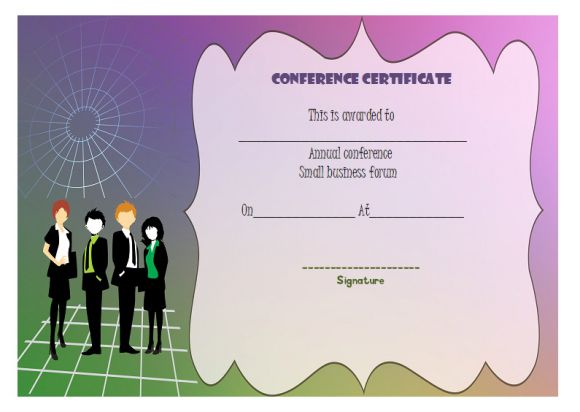 conference certificate of participation