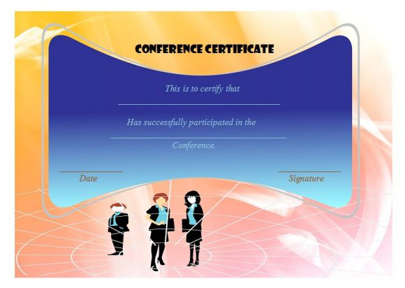conference certificate of participation award
