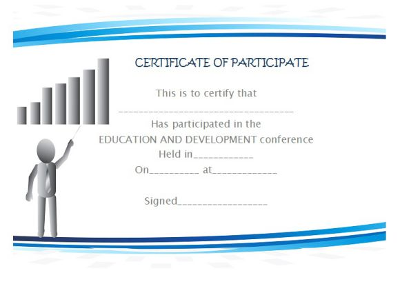 conference participate certificate template