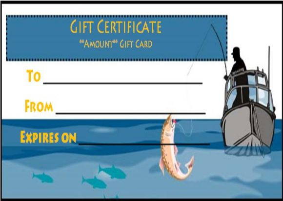 Fishing Gift Certificate Template