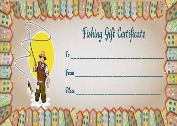 Fishing Gift Certificate Templates