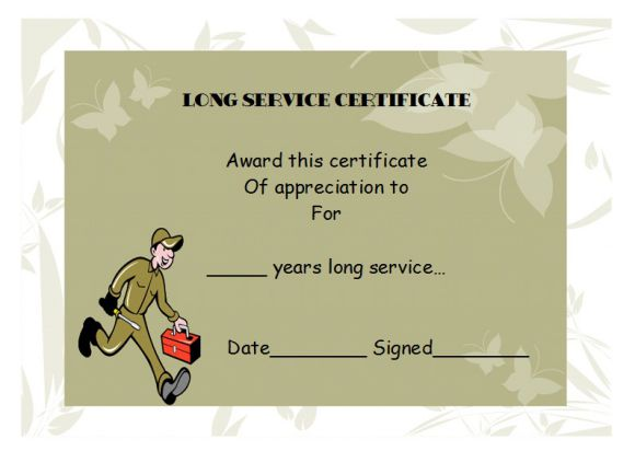 long service award template