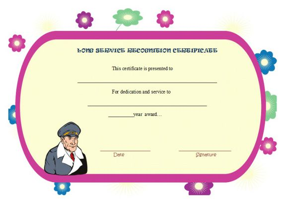 long service recognition certificate
