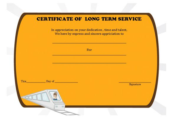 long term service certificate