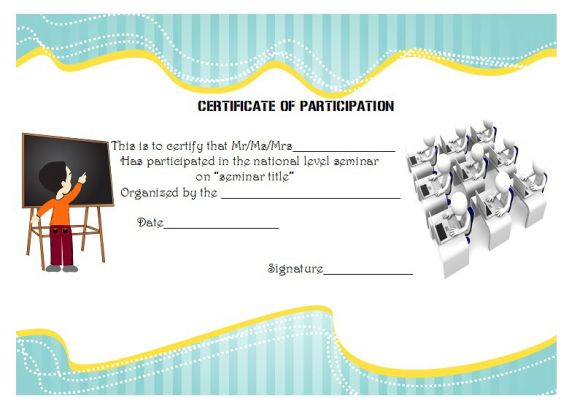 seminar certificate of participation