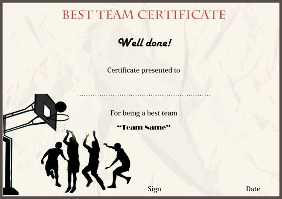 Basketball Camp Best Team 1