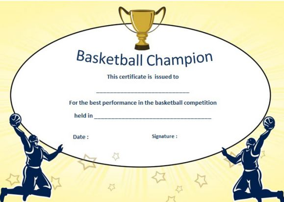 20+ Basketball Camp Certificates That Will Make Your Team Proud ...