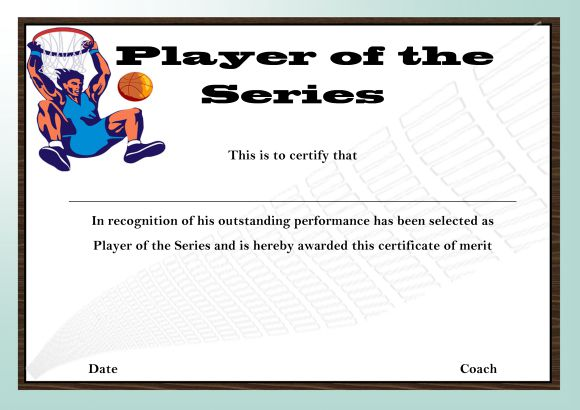 Basketball Camp Player Of The Series