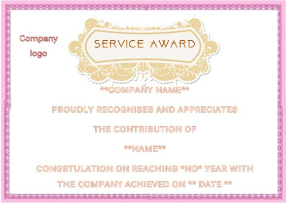 Employee anniversary certificate template 12 for Certificate of service template
