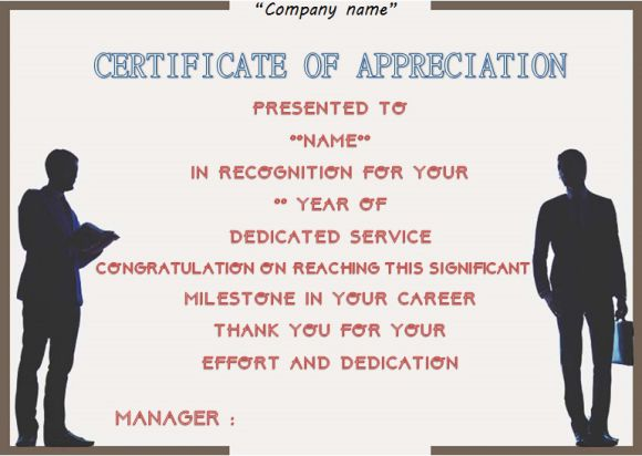Employee anniversary certificate template 12 professional word categories of employee anniversary certificates yelopaper Choice Image