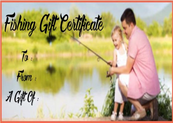 Fishing Gift Certificate Templates Free
