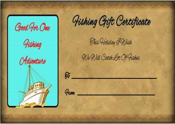 Fishing Trip Gift Certificate Template