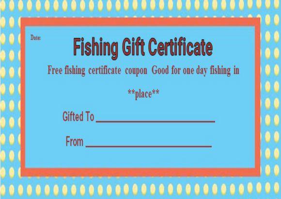 Fishing Trip Gift Certificate Templates