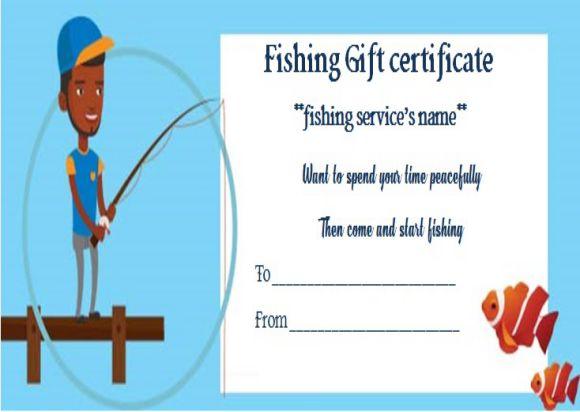 Free Fishing Trip Gift Certificate Template