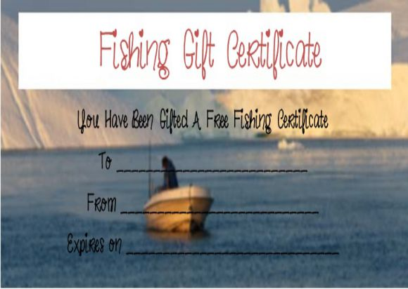 Free Fishing Trip Gift Certificate Templates