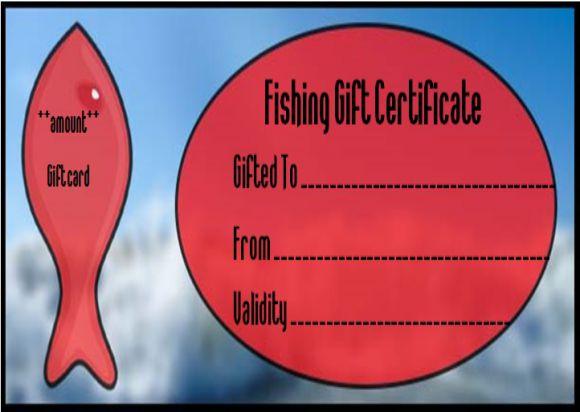Free Printable Fishing Gift Certificate