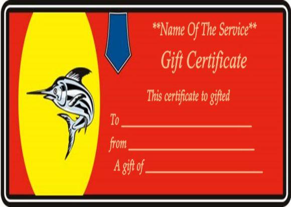Free Printable Fishing Gift Certificates