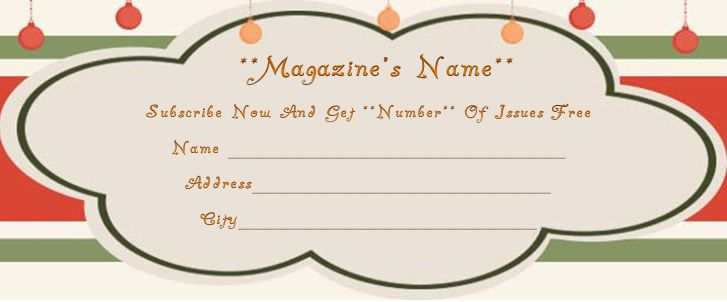 parents magazine gift subscription template