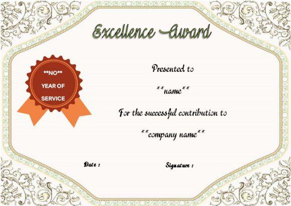 work anniversary certificate