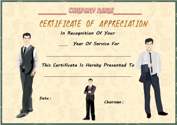 employee anniversary certificate template 12 professional word templates demplates. Black Bedroom Furniture Sets. Home Design Ideas