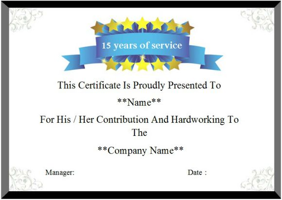 service anniversary certificate templates - 24 certificate of service templates for employees formats