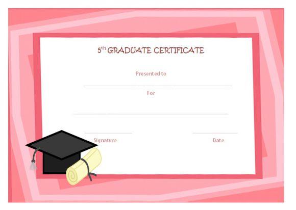 5th grade graduate free templates