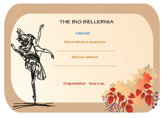 dance certificate template 26 free certificates for