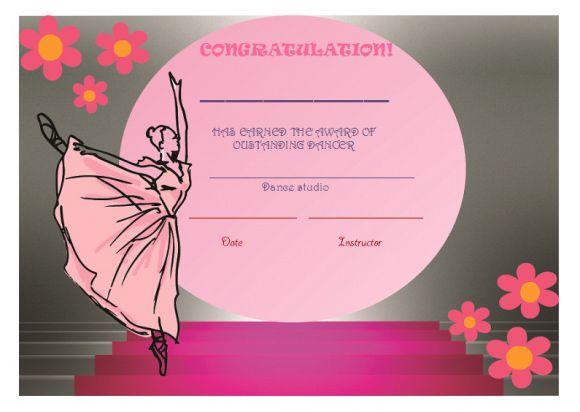 Best dance certificate