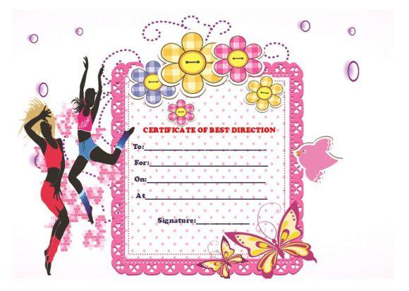 Best dance direction certificate