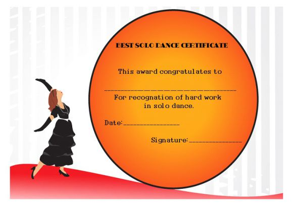 Best solo dance certificate