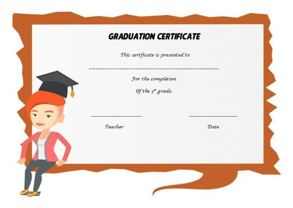 Best template for 5th grade graduate