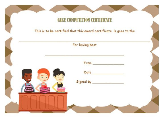 14 cake competition certificates for bake off cake decorating things to add to cake competition certificate yelopaper Images