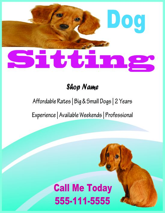 Dog sitting flyer