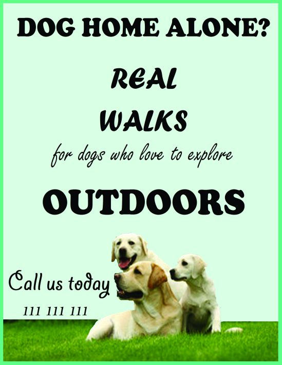 Home alone dogs - flyer