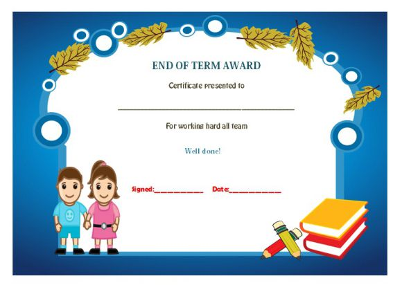 End of term certificate